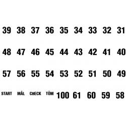 Etiketter, endast nummer